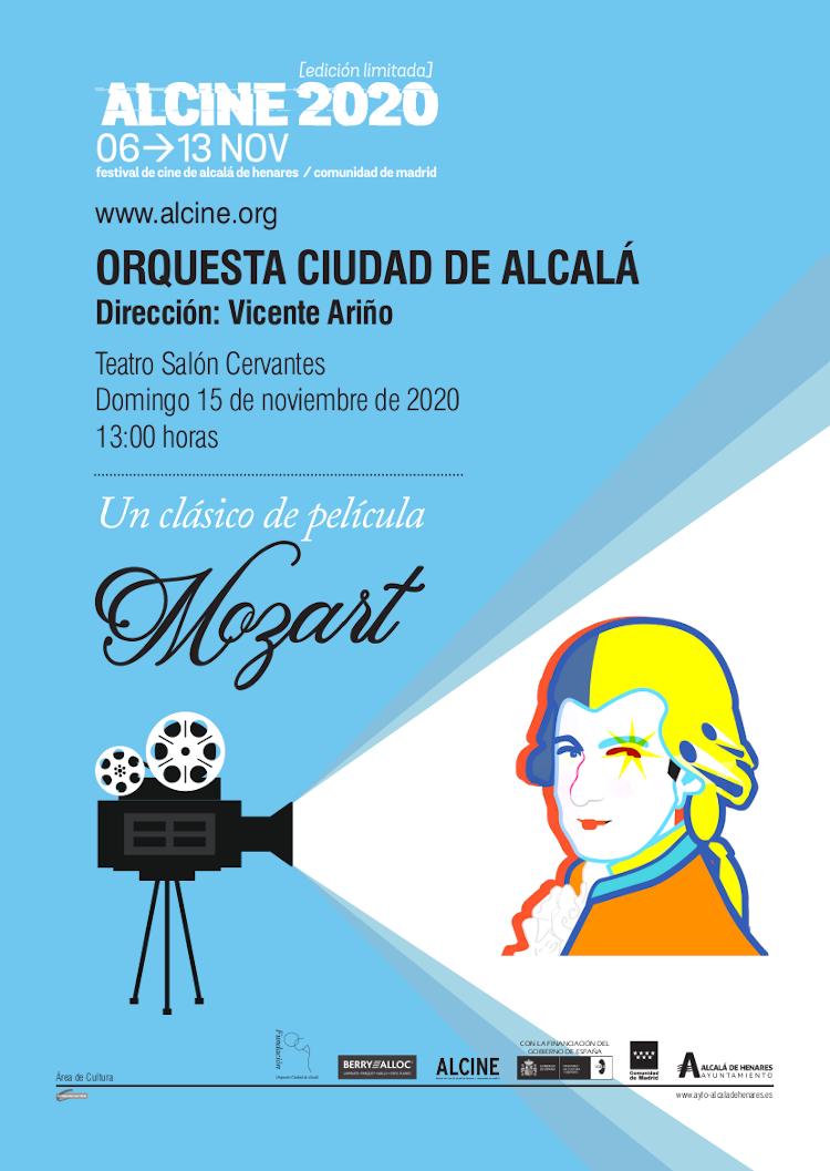 La Orquesta Ciudad de Alcalá nos acerca a un clásico de película: Mozart. Domingo 15, 13h. Teatro Salón Cervantes