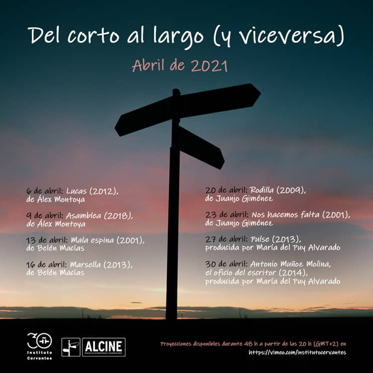 El Instituto Cervantes en colaboración con ALCINE ofrece el ciclo de cine en línea «Del corto al largo (y viceversa)»