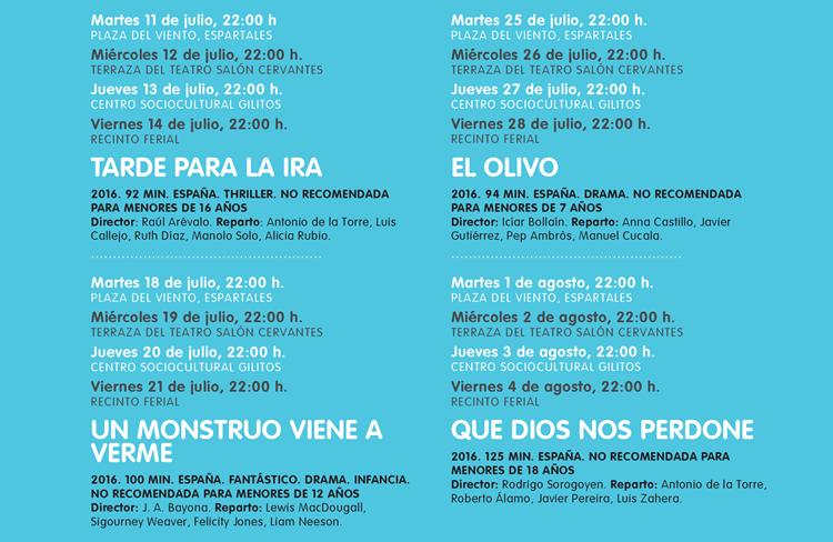 ALCINE DE VERANO VUELVE A LAS NOCHES DE JULIO Y AGOSTO