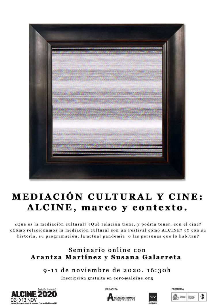 Asiste en directo: 'Mediación cultural y cine: ALCINE, marco y contexto'.  Seminario online con Arantza Martínez y Susana Galarreta
