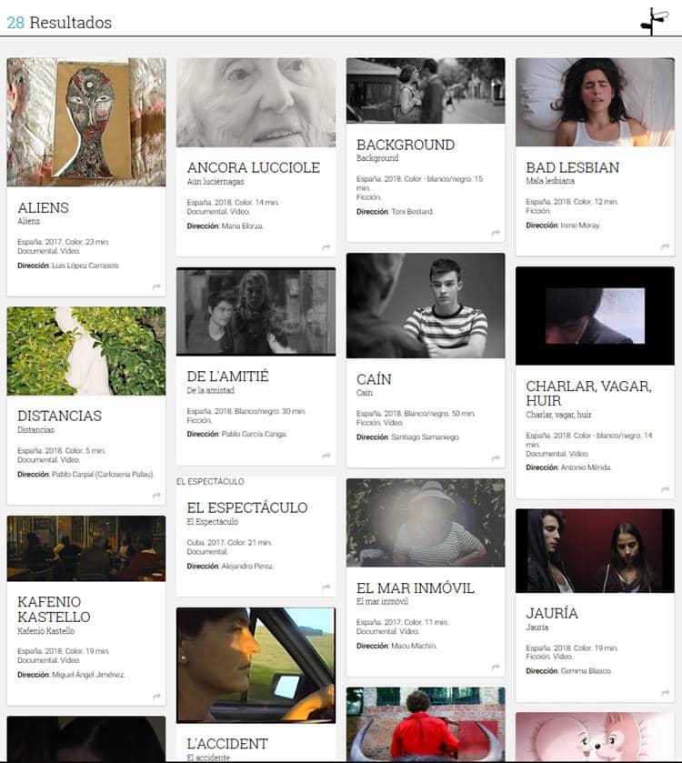 28 Cortometrajes seleccionados en el Certamen Nacional