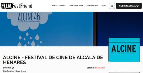 Alcine, también en FilmFestFriend, la nueva herramienta para el corto y su distribución