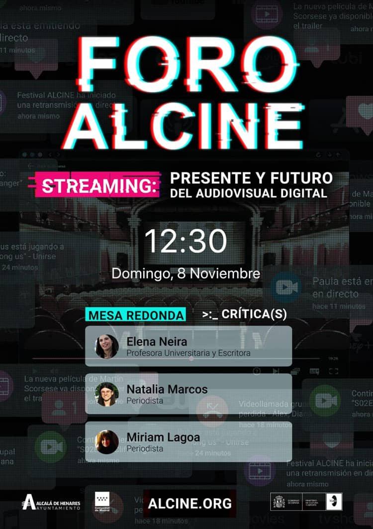 Sigue en directo el Foro ALCINE: Streaming, presente y futuro del audiovisual digital (Critica(s)) Domingo 8 / 12:30h. Con Elena Neira, Natalia Marcos y Miriam Lagoa