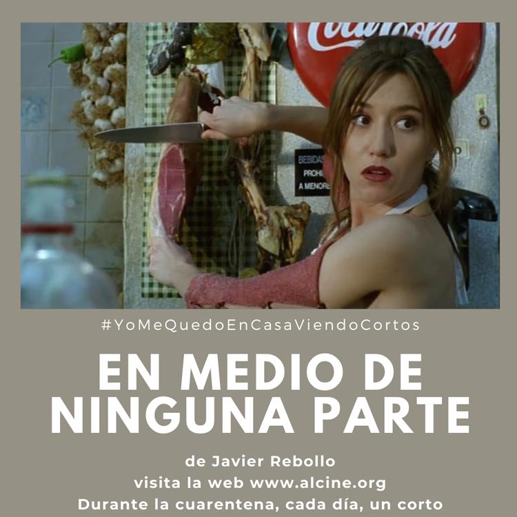 """""""En medio de ninguna parte"""", el inicio de una colaboración imborrable entre Javier Rebollo y Lola Dueñas #YoMeQuedoEnCasaViendoCortos"""