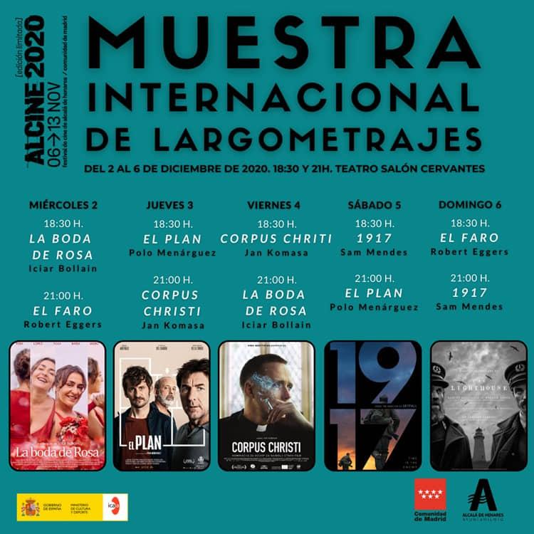 Muestra Internacional de Largometrajes, del 2 al 6 de diciembre